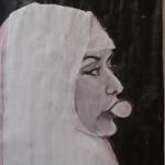 2007 Moslima met kauwgombal