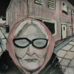 2007 Oude vrouw op straat