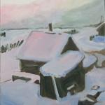 2009 Huisjes in de sneeuw